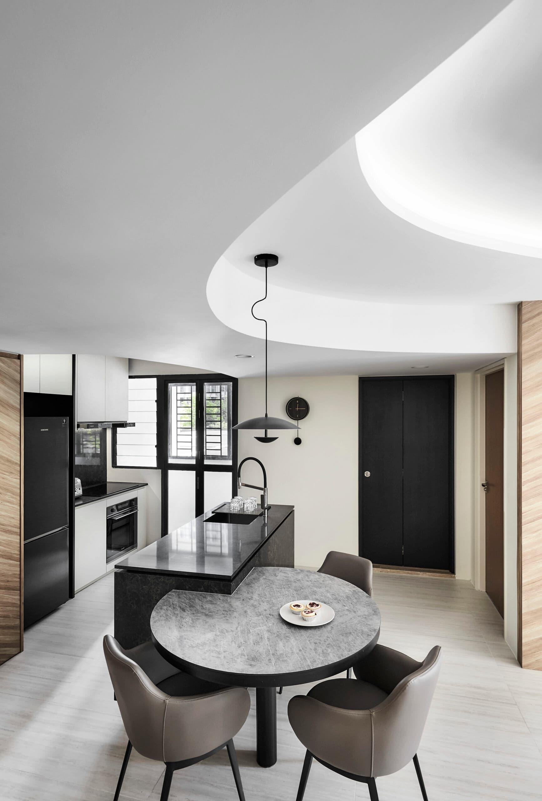 bto dining nook kitchen island